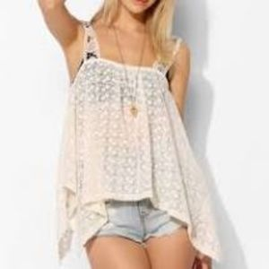Anthropologie Staring At Stars Lace Tank Top